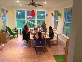 Kindergeburtstag-Abendessen